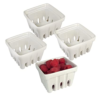 Artland Berry Basket, White, Set of 4