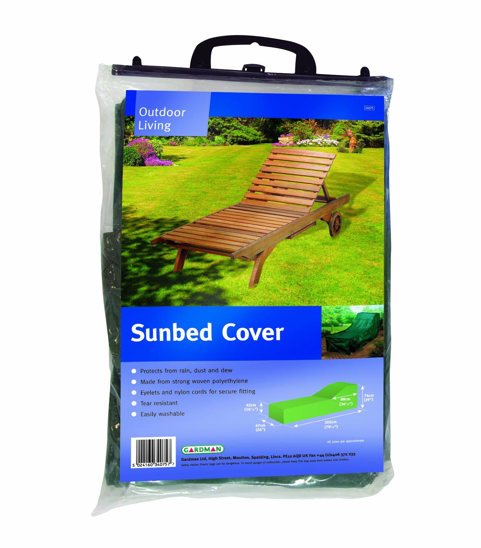Gardman sunbed lounger waterproof green garden protection for Amazon gardman furniture covers