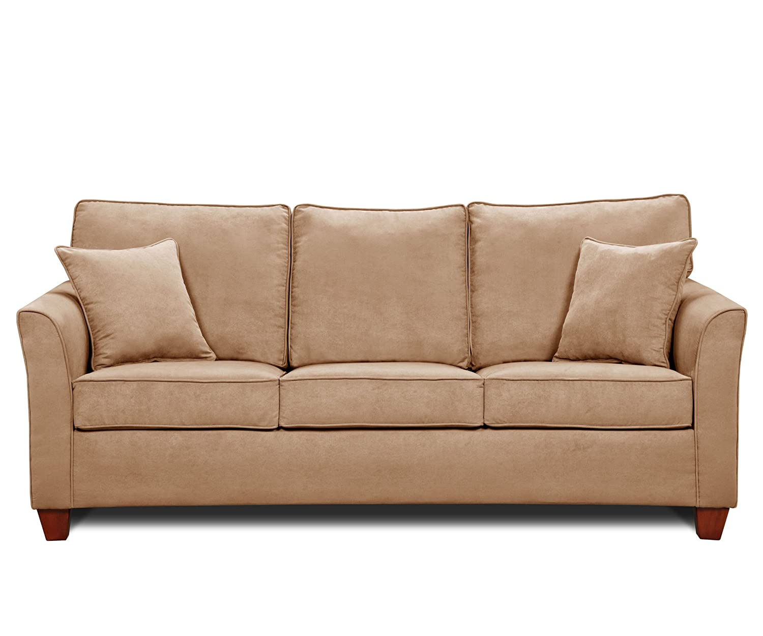 Simmons Micro Fiber Taupe Queen Size Size Sofa Sleeper