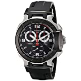 Tissot Men's T0484172705700 T-Race Black Chronograph Dial Watch (Color: Black)