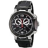 Tissot Men's T0484172705700 T-Race Black Chronograph Dial Watch (Color: Black)