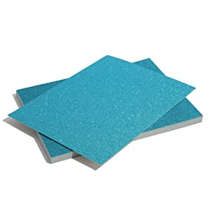 Bright Creations Glitter Cardstock Paper 24 Pack - DIY Glitter Craft Paper Blue - 11 x 8.5 inches (Color: Blue)