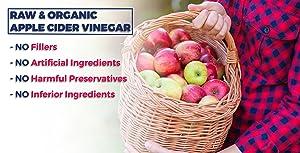 Apple Cider Vinegar 1500, Raw Organic NON-GMO (120 Capsules)