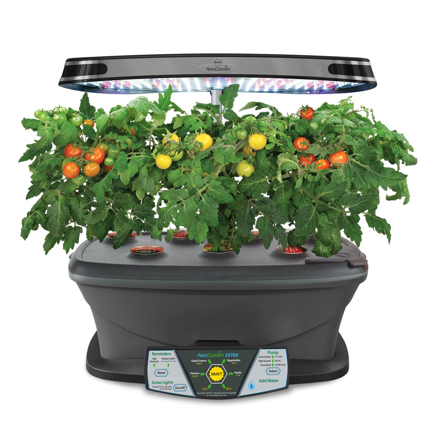 miracle gro aerogarden extra led indoor garden with gourmet herb seed kit new ebay