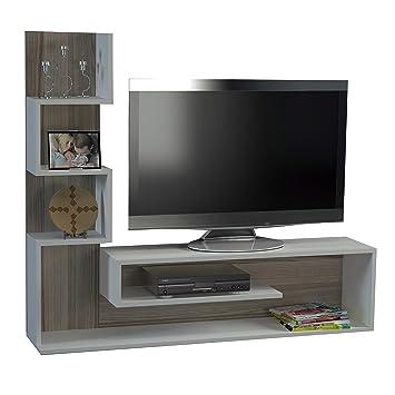 Salón unidad de pared TV Pared Mueble bajo Cultivo pared Marina en blanco de Cordoba