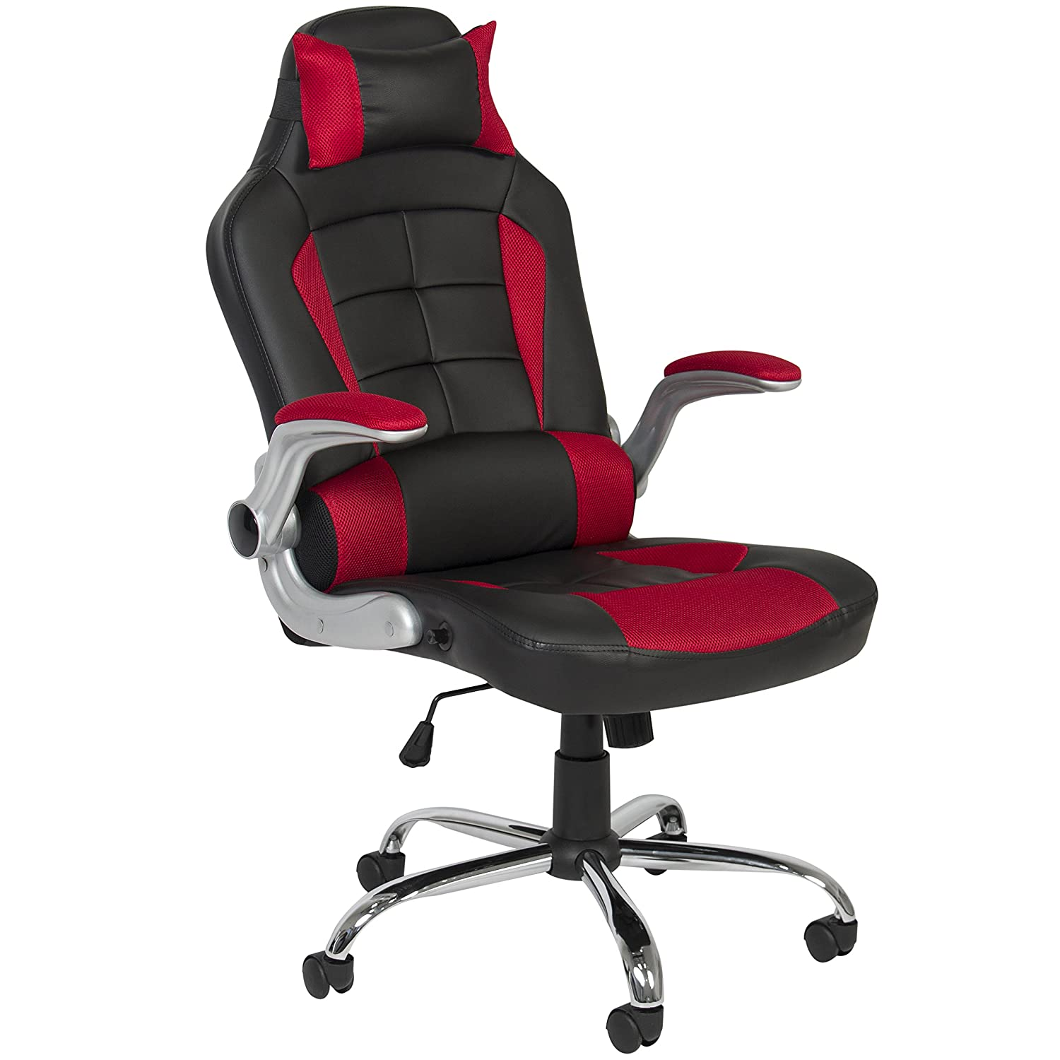 Best Choice Products BCP Deluxe Ergonomic Racing Style PU Leather Office Chair Swivel High Back Red
