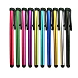 INNOLIFE Metal Stylus Touch Screen Pen Compatible with Apple iPhone 4 4S 5 5S 5C 6 6 Plus iPad Galaxy Tablet Smartphone PDA (10pcs Mixed Colors) (Color: Multi, Tamaño: 10 Pack)