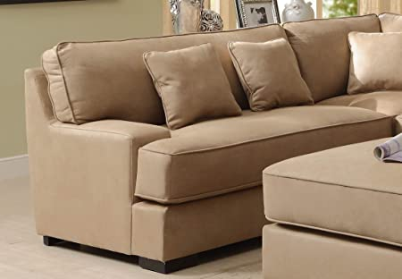 Minnis Collection Left Side Facing 3 Seater Sofa in Beige Finish by Homelegance