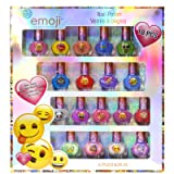 Townley Girl Emoji Super Sparkly Peel-Off Nail Polish Deluxe Present Set for Girls, 18 Colors (Color: Silver, Tamaño: Large)