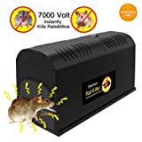 P PURNEAT Electronic Rat Traps,High Voltage Emitting, Mouse Traps Electronic,?2018 upgraded? Effective and Powerful killer for rat,squirrels and other similar rodents