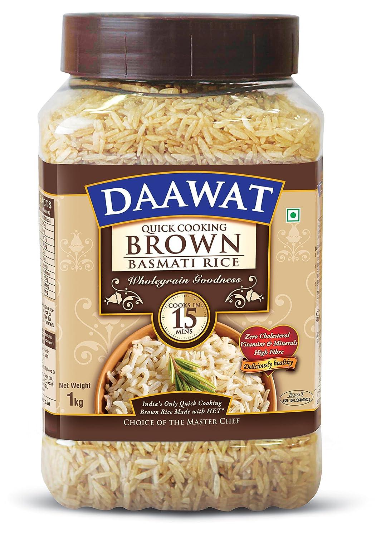 Daawat Brown Basmati Rice, 1kg, Jar