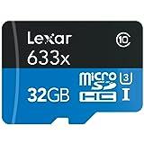 Micro SDHC DE 32GB 633X UHS-I/U3 Lexar de memoria flash LSDMI32GBBNL633R (Hasta 95MB / s de lectura) USB 3.0