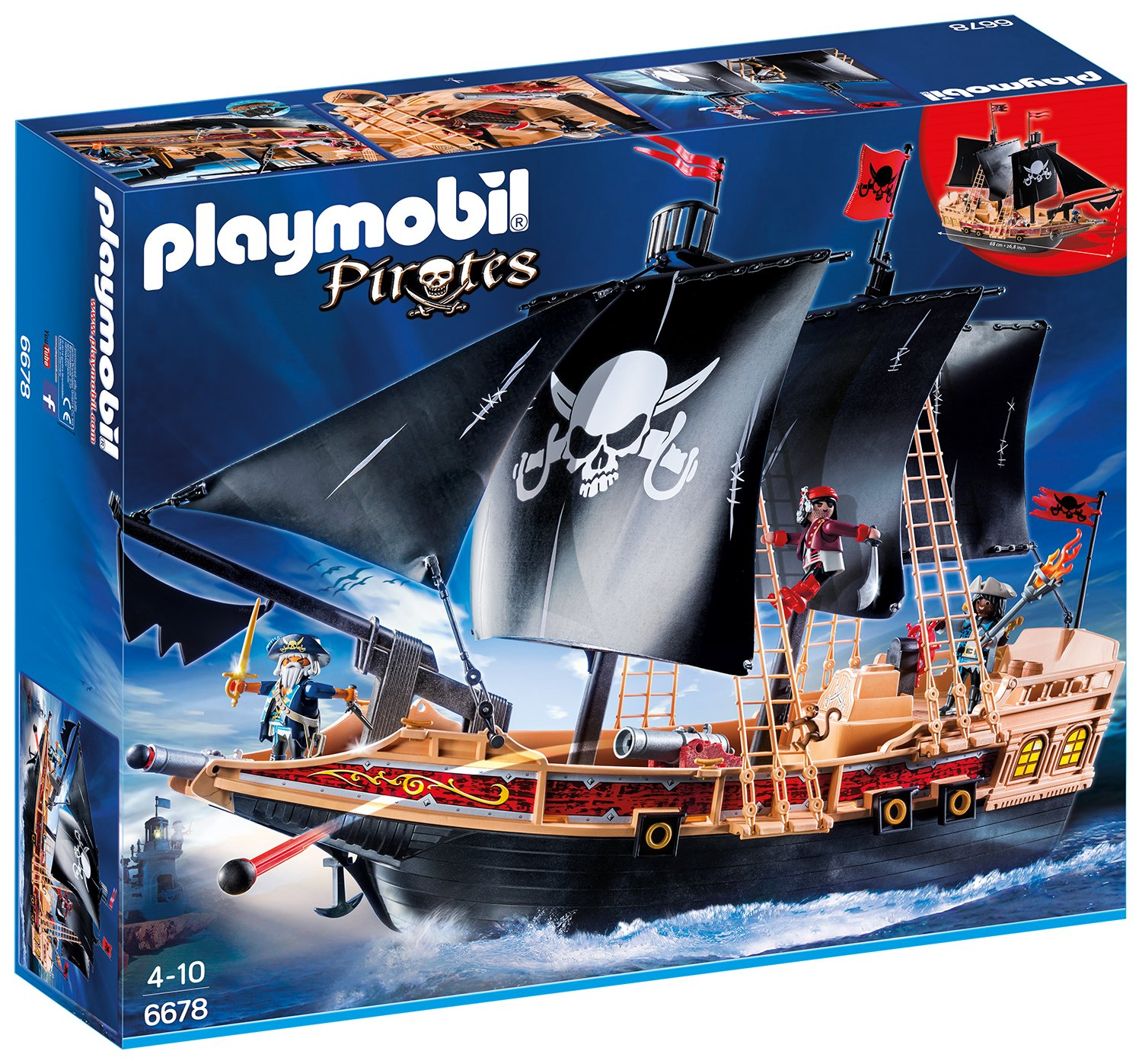 PLAYMOBIL® Piraten-Kampfschiff (6678)
