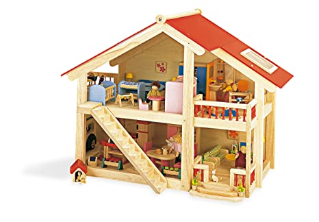 Pintoy Woodlands Dolls House with Furniture