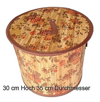 gmmh ln 413 w schekorb flora bambus faltbar 30 cm hoch us56. Black Bedroom Furniture Sets. Home Design Ideas