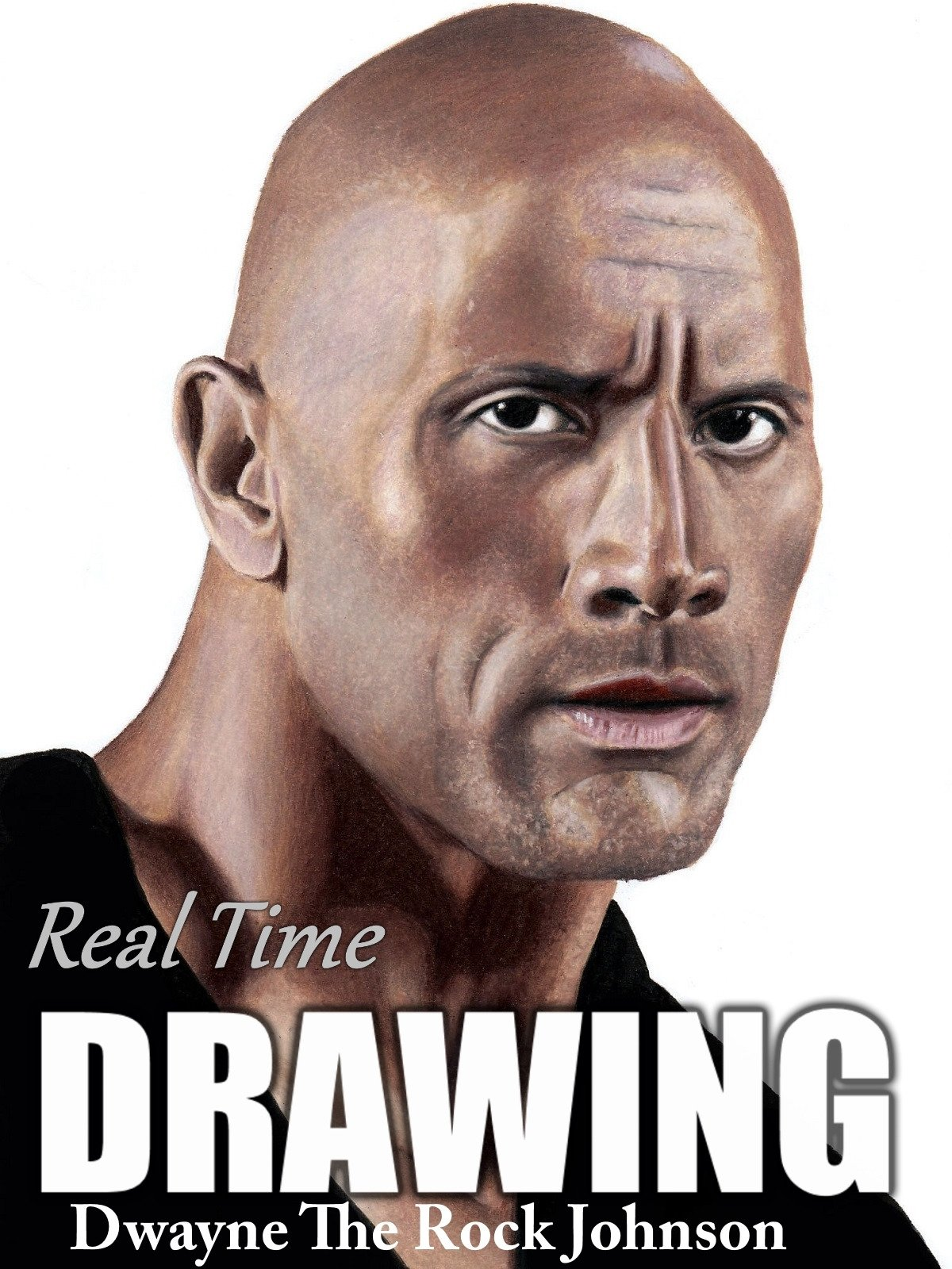 Real Time Drawing Dwayne The Rock Johnson