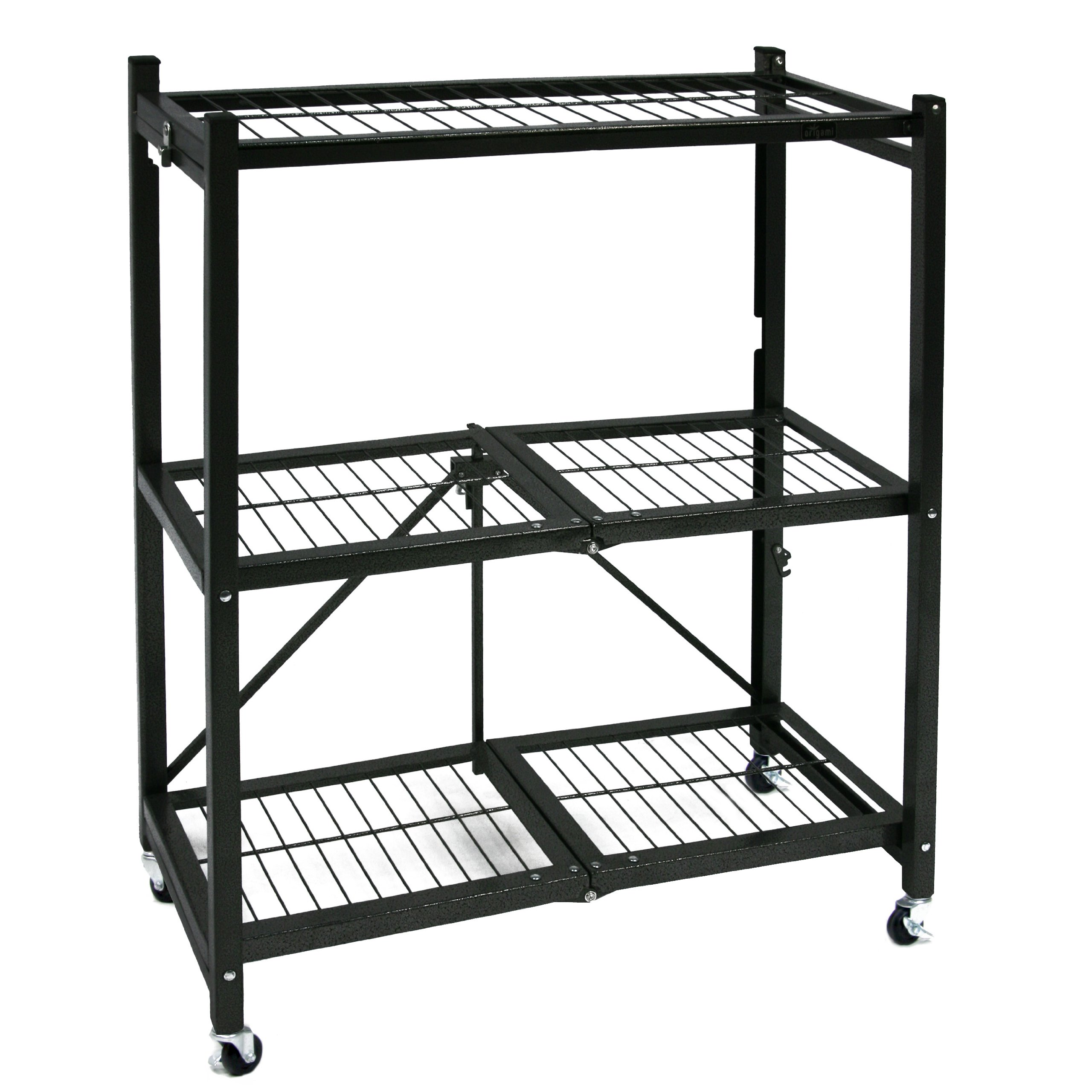 origami general purpose steel storage rack with wheels 3. Black Bedroom Furniture Sets. Home Design Ideas