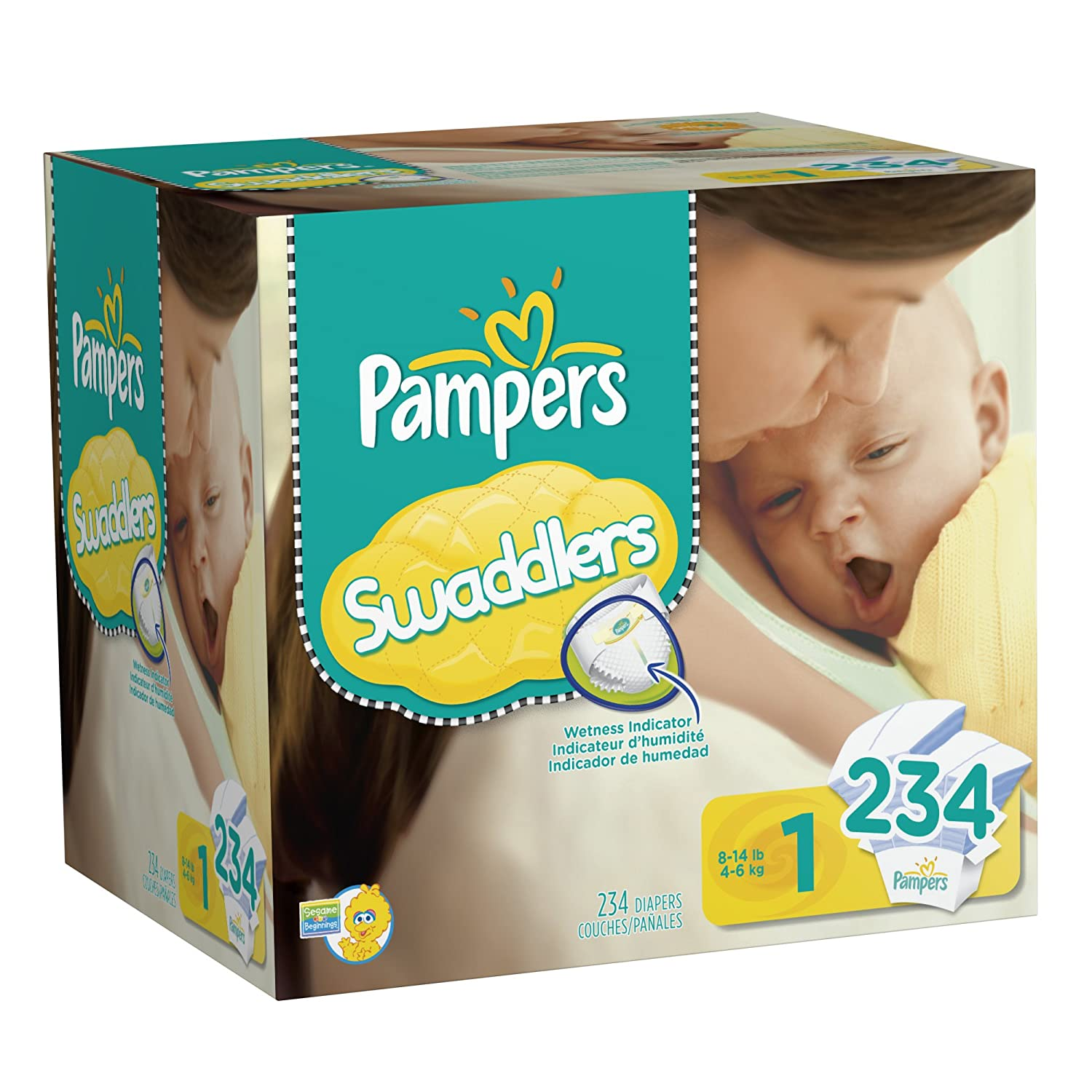 Pampers Swaddlers Size 1 240 Diapers at Sears.com