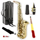 Legacy AS750 Student/Intermediate Alto Saxophone with Case (Color: gold)