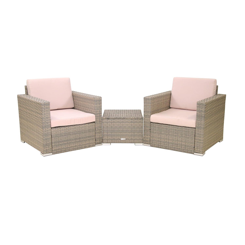 Greemotion Sesselset mit Beistelltisch Maxime, Mehrfarbig, Sessel: ca. 77 x 77 x 71 cm, Tisch: ca. 50 x 50 x 37 cm günstig online kaufen
