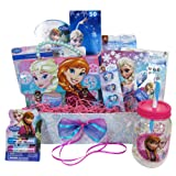 Christmas Gift Basket Idea 10 Frozen Themed Items for Girls With Bracelet, Novelties, Tin Purse, Diary, Nail and Hair Accessories (Tamaño: 1- Frozen)