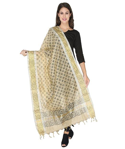 Printed Silk Dupatta at amazon