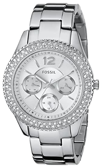 Fossil Women's ES3588 Stella Multifunction Stainless Steel Watch - Silver-Tone