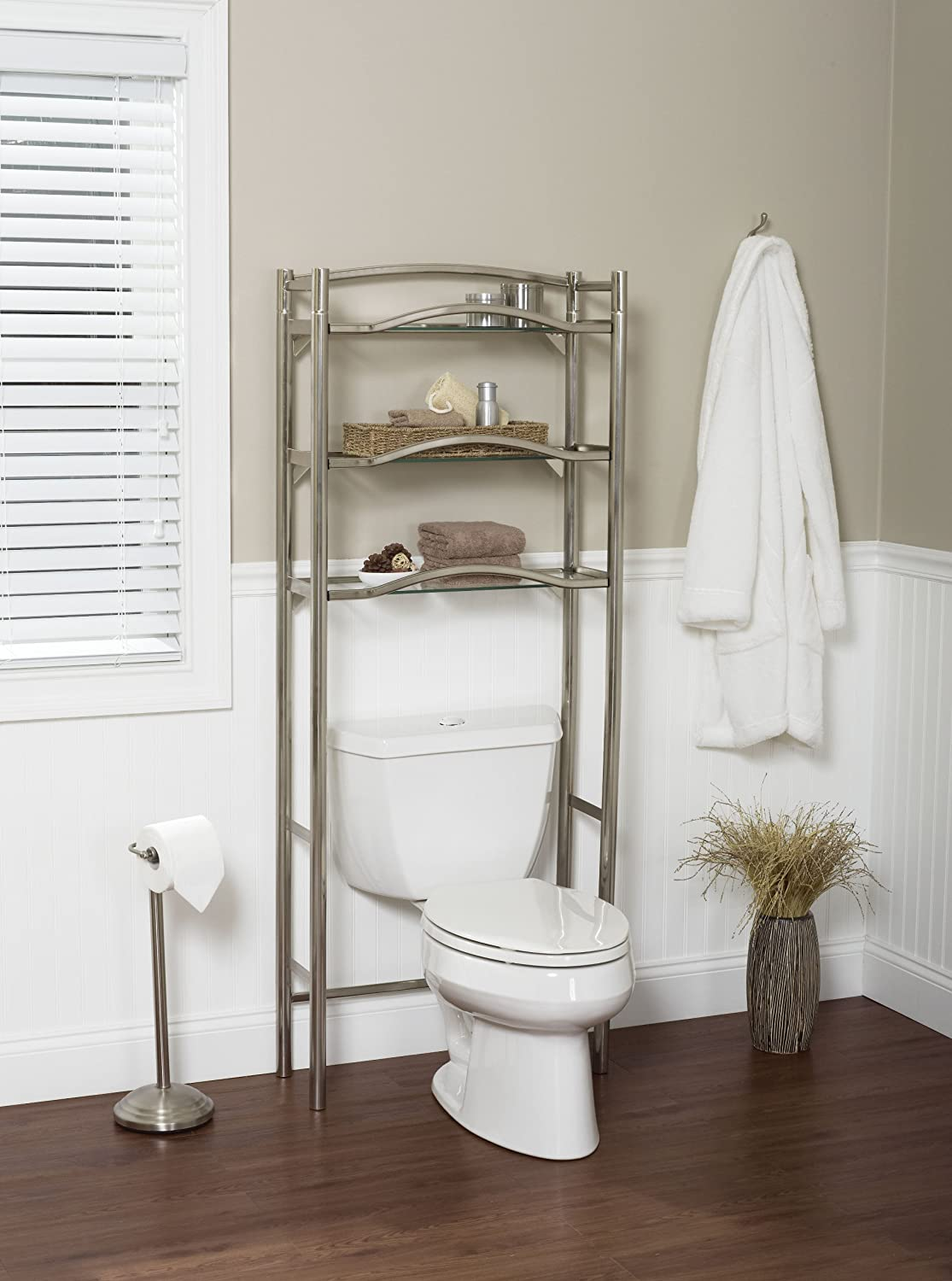 Space Saver Is Extra Tall To Fit Over Both Standard Height And Tall Toilets  Up To 38 Inch High. Patented Slide Fit Allows For Easy 15 Minute Assembly