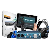 PreSonus AudioBox iTwo Studio USB 2.0 Recording Bundle with Interface, Headphones, Microphone and Studio One software (Color: Blue, Tamaño: PC/Mac/iOS - 2 Mic Pres)