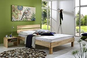 SAM® massiv Holzbett Balin Holz Bett 180 x 200 cm Massivholz Kernbuche geölt Lieferung mit Paketdienst teilzerlegt  Kundenbewertung und weitere Informationen