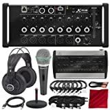 Behringer X Air XR16 Digital Mixer with Wi-Fi and USB Recorder with Behringer Powerplay 16-Channel Digital Personal Mixer, Samson SR850 Headphones, Samson Microphone and Premium Studio Bundle