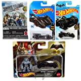 AYB The Batman Batmobile & Figure DC Die-Cast Cars Collection Hot Wheel / Batman V Superman Version / Brave Bold Batmobile + Minis Justice League Mighty Blind Bag Figure (Color: Black)