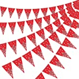 5 Pack Bandana Pennant Banner, Wild West Party Accessory for Western Cowboy Party Themed Decoration, 7.4 x 10.8 Inch