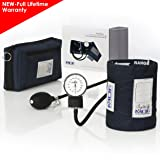 MDF Calibra Aneroid Premium Professional Sphygmomanometer - Blood Pressure Monitor with Adult Cuff & Carrying Case - Full Lifetime Warranty & Free-Parts-For-Life - Navy Blue (MDF808M-04) (Color: Navy Blue, Tamaño: Adult)