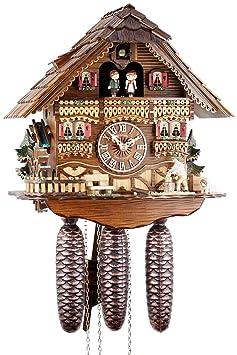 Orologio a cucù Casa del taglia legno con taglialegna in movimento e ...
