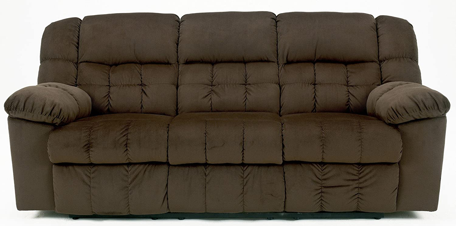 Contemporary Chocolate Colored Lowell Reclining Sofa