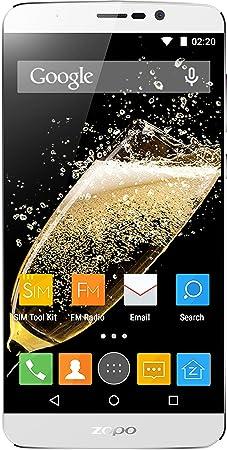 Zopo Mobile Speed 7 Plus Smartphone débloqué 4G (Ecran: 5,5 pouces - 16 Go - Double SIM - Android 5.1 Lollipop) Blanc