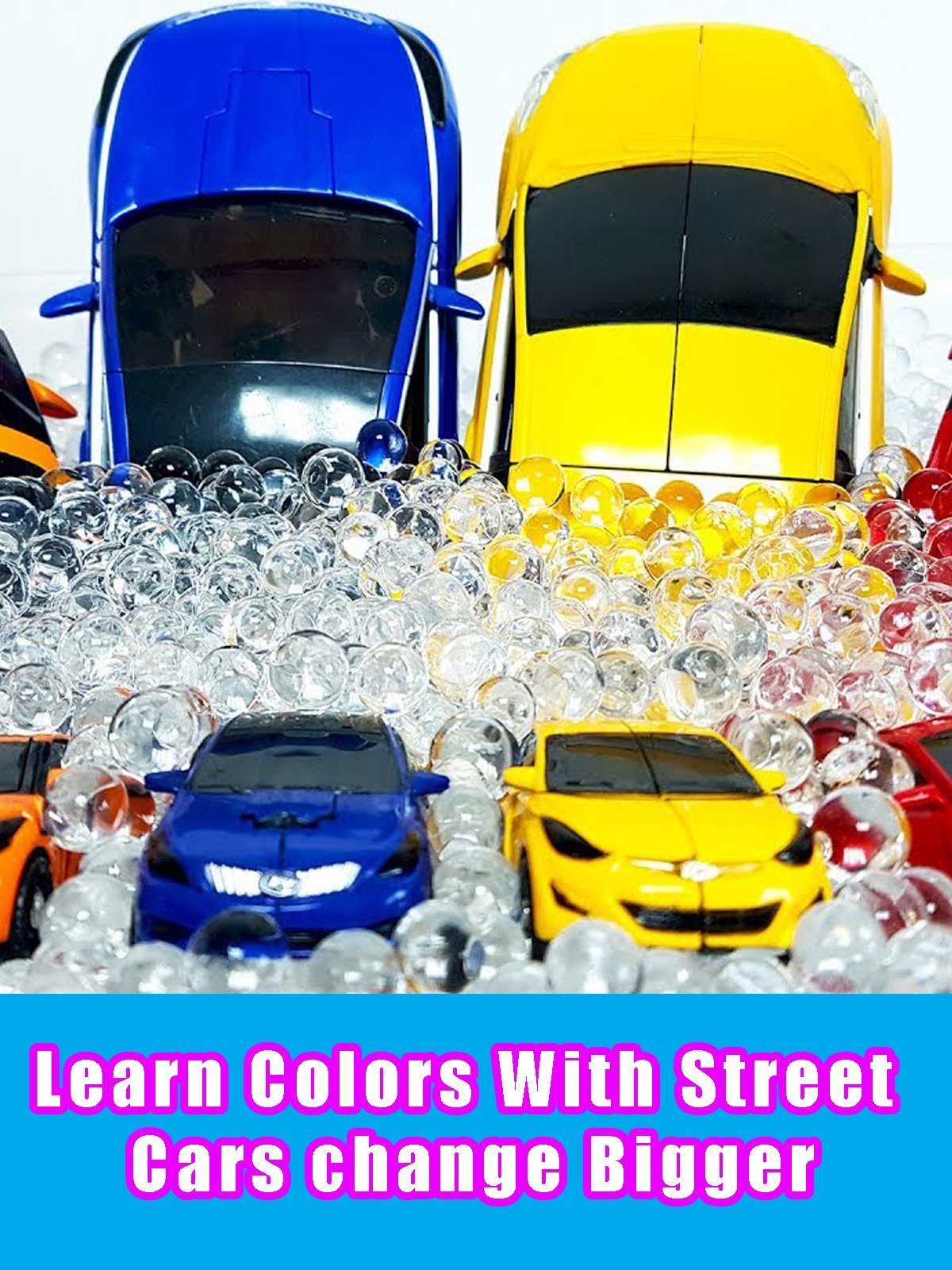 Learn Colors With Street Cars change Bigger