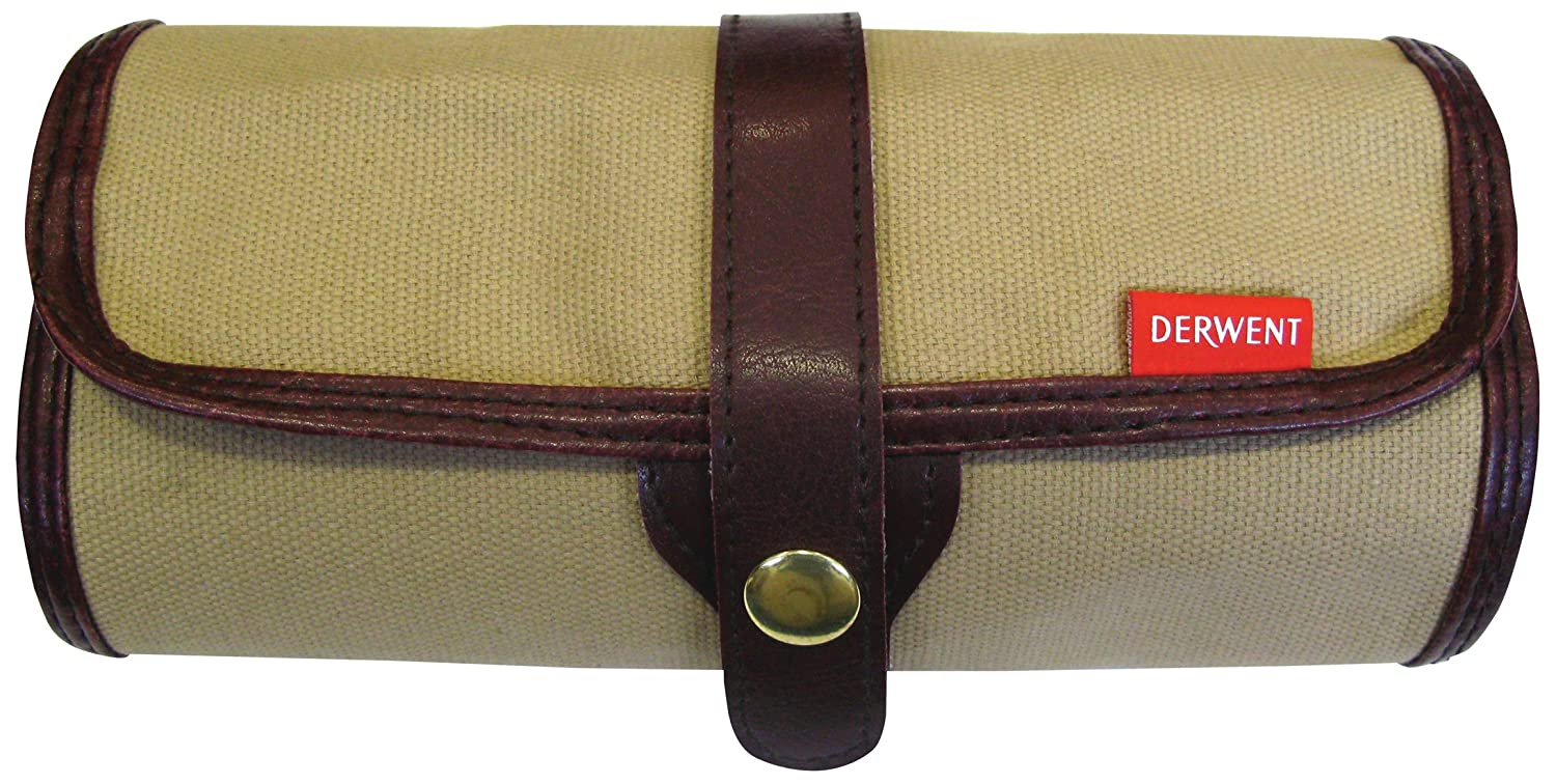 Derwent Canvas Pencil Wrap, 30 Pencils and Accessory Capacity, Professional Quality, 700434