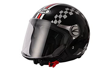 BHR 93786 Casque Demi-Jet Racing, Taille XS, Blanc