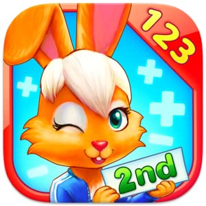 Wonder Bunny Math Race: 2nd Grade App for Numbers, Addition and Subtraction from Fantastec Oy