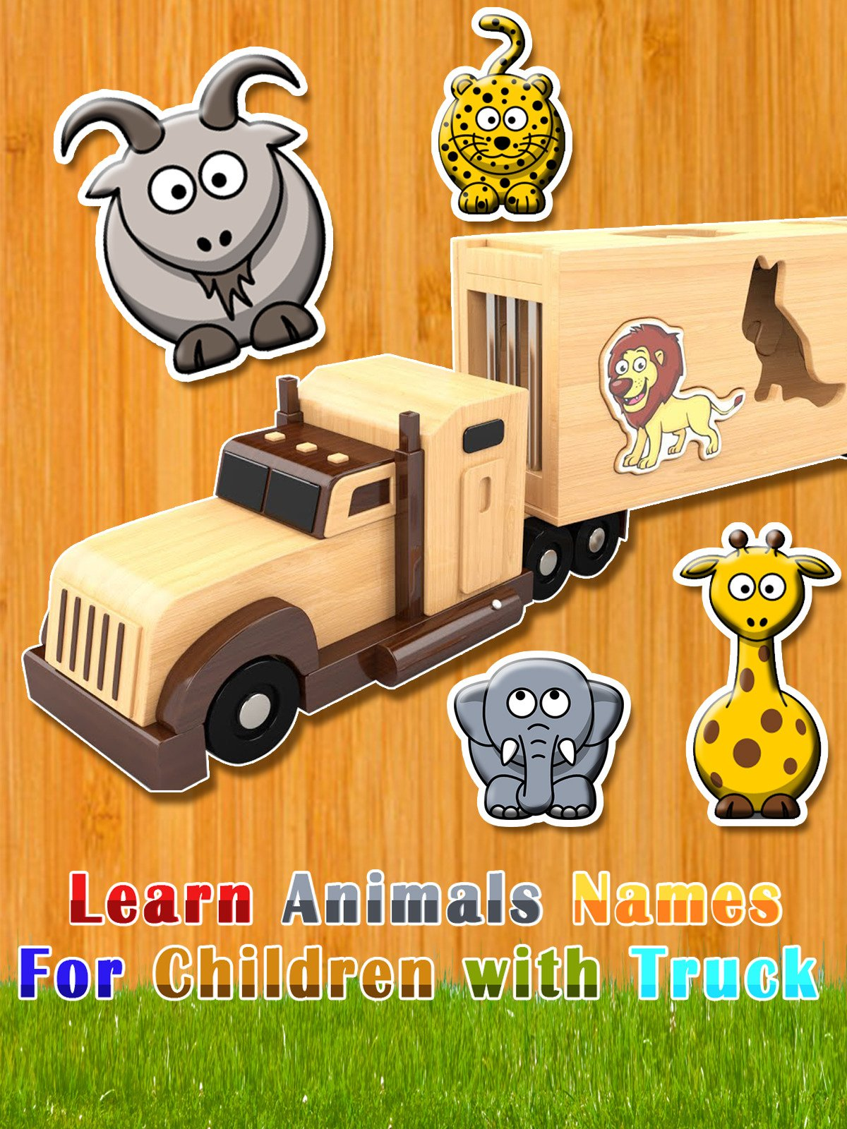 Learn Animals Names For Children with Truck