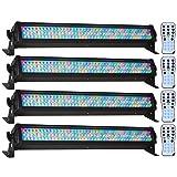 (4) American DJ Mega Bar 50RGB RC RGB LED Color Wash And Strobe Bar Effect Lights With Included RF Remote