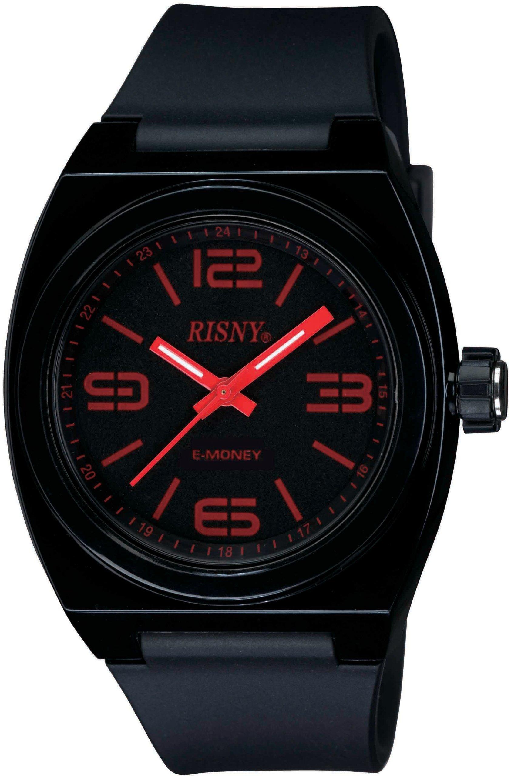 [リスニー]RISNY 腕時計 電子マネーEdy(エディ)搭載 ブラック RS-001M-01