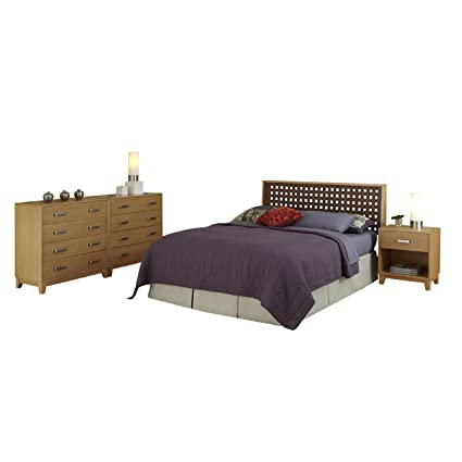 Home Styles 5517-5017 The Rave Full/Queen Headboard, Night Stand and 2 Chests Set