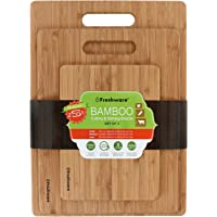 Freshware Bamboo 3 Piece Cutting Boards