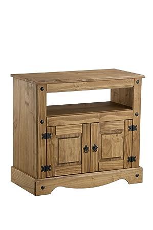 Birlea Corona - Mueble para televisión (madera de pino encerada)