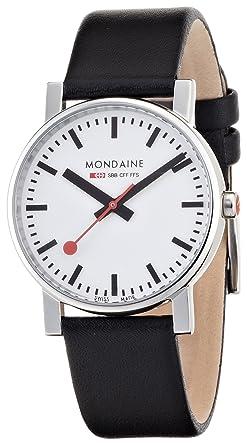 MONDAINE★♪腕時計★♪エヴォ メンズ ホワイト文字盤 ブラックレザーストラップ A658.30300.11SBB メンズ