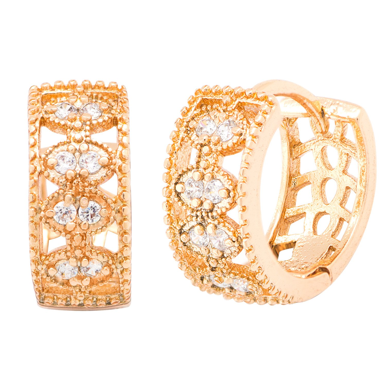 Romantic Time Womens Charm Cute Pierced Elegant Hollow Small Diamond Clip-On-Earrings caban romantic футболка
