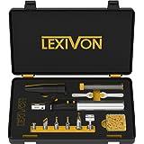 LEXIVON Butane Soldering Iron Multi-Purpose Kit | Cordless Self-Igniting Adjustable Flame 7-Tip Set | Pro Grade 125-Watt Equivalent (LX-770) (Color: Black)